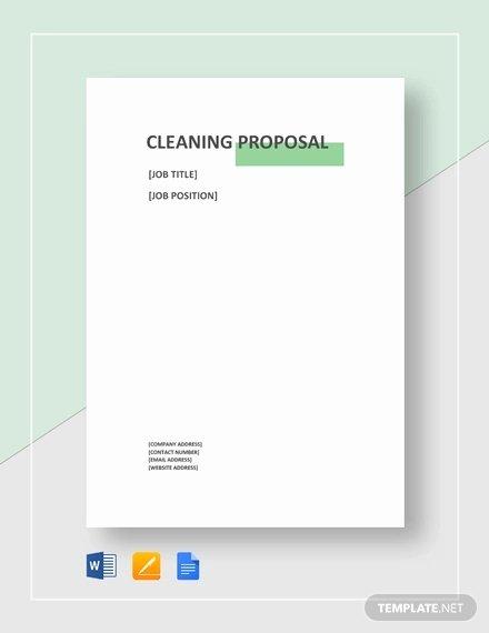 Cleaning Proposal Template Pdf Elegant 15 Cleaning Proposal Templates Word Pdf Apple Pages