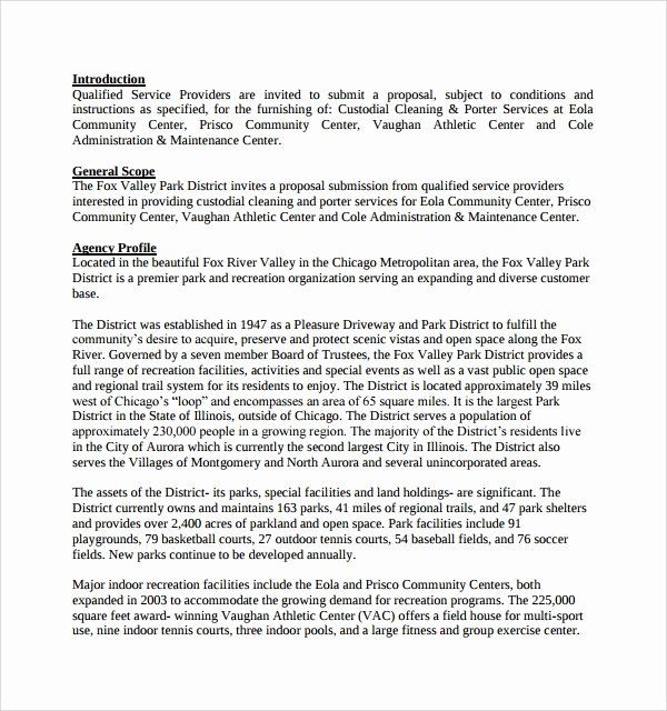 Cleaning Proposal Template Pdf Lovely Sample Cleaning Proposal Template 9 Free Documents In Pdf