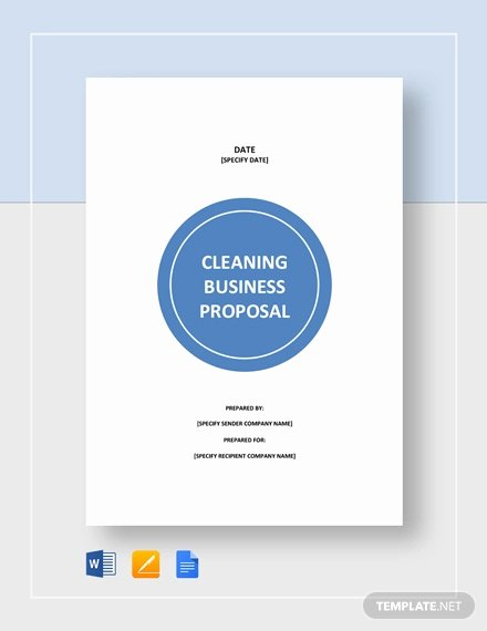 Cleaning Proposal Template Pdf Luxury Free 12 Cleaning Proposal Examples and Samples In Pdf