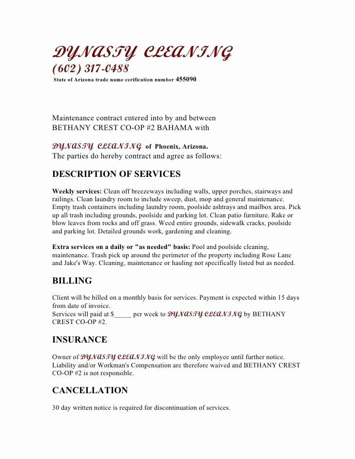 Cleaning Service Agreement Template Best Of Tip Pooling Agreement form Ideal 18 Pool Service