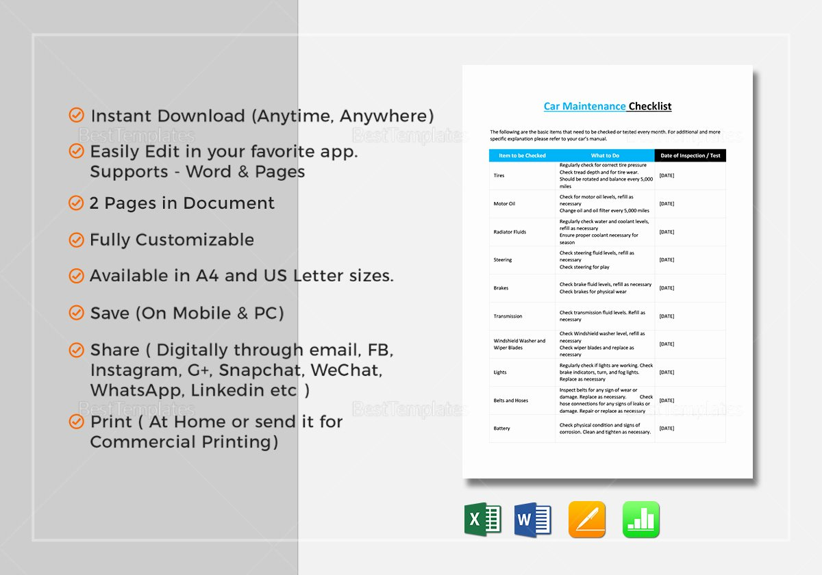 Cleaning Service Checklist Template Beautiful Cleaning Service Checklist Template In Word Excel Apple
