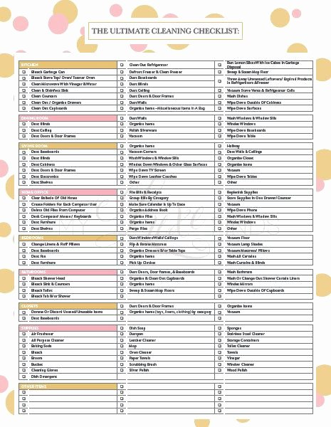 Cleaning Service Checklist Template Beautiful the Ultimate House Cleaning Checklist Printable Pdf