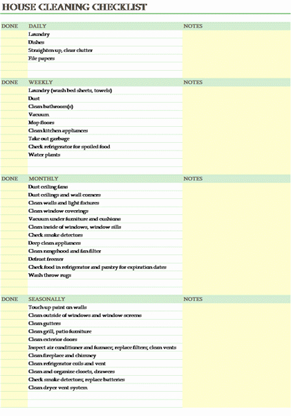 Cleaning Service Checklist Template Best Of Free House Cleaning Checklist Template