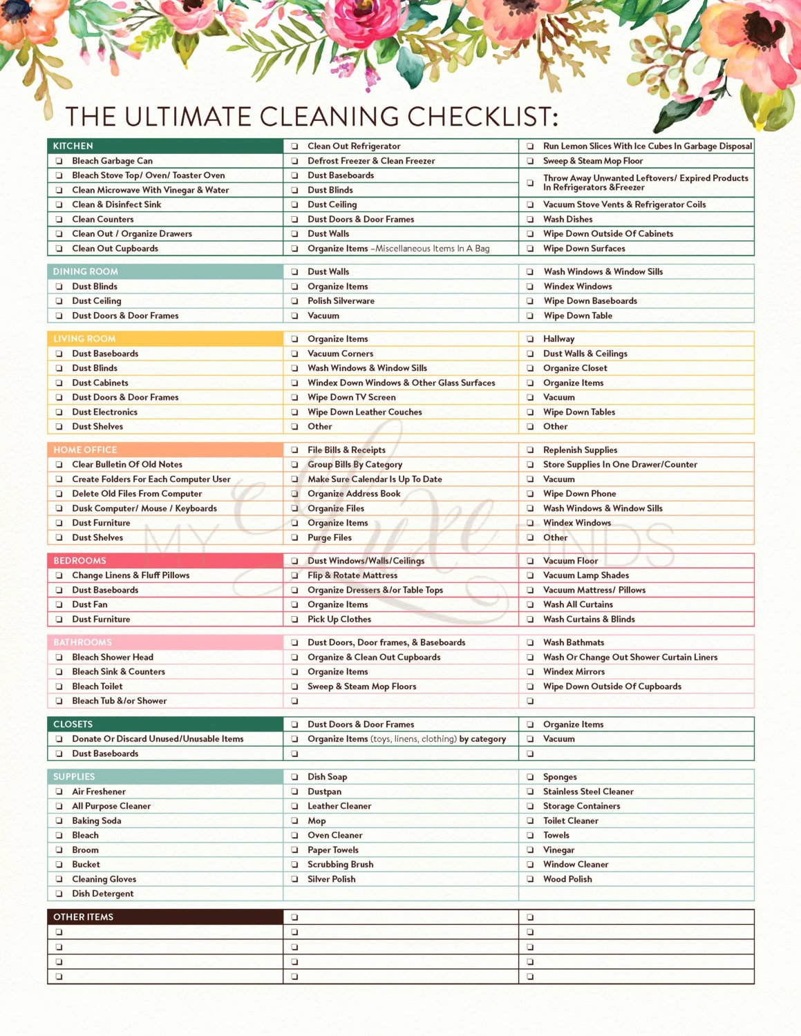 Cleaning Service Checklist Template Best Of the Ultimate House Cleaning Checklist Printable Pdf
