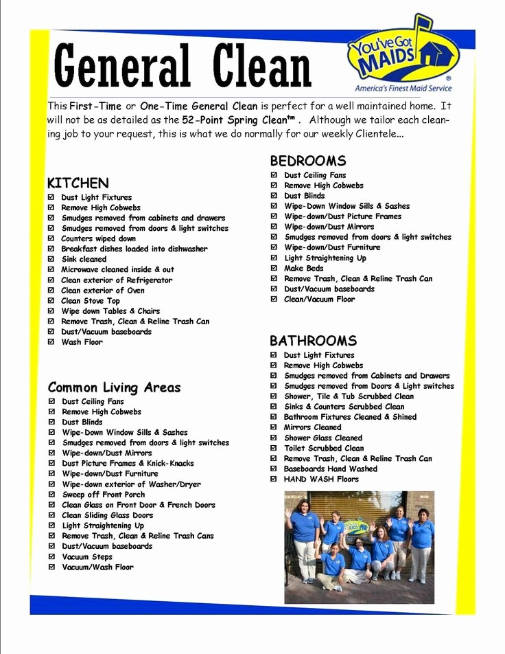 Cleaning Service Checklist Template Elegant Free Printable House Cleaning Charts