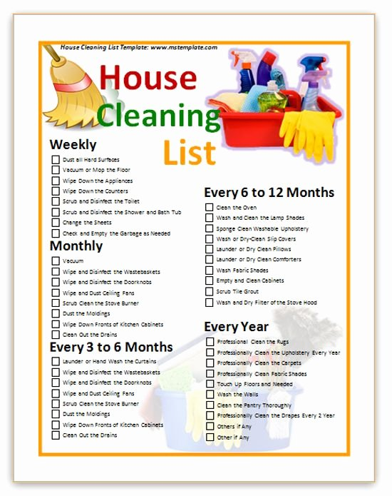 Cleaning Service Checklist Template Luxury 13 Best Images About Housekeeping On Pinterest