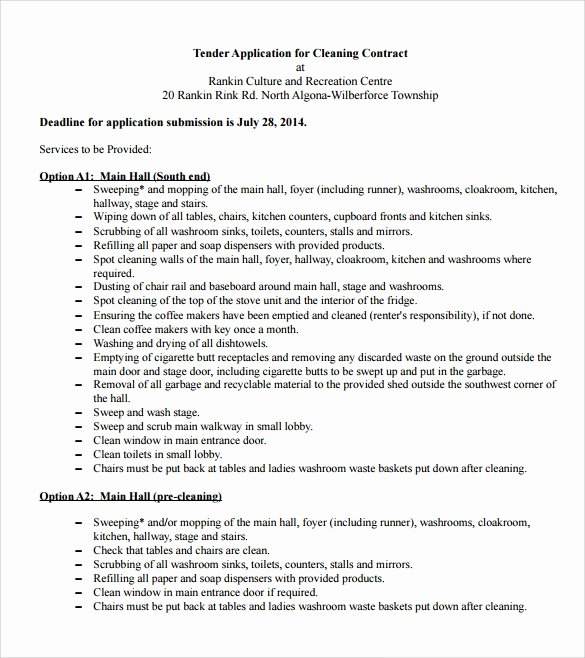 Cleaning Service Contract Template Awesome 16 Cleaning Contract Templates Docs Word Pdf