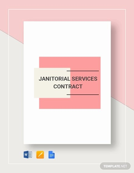 Cleaning Service Contract Template Best Of 22 Cleaning Contract Template Word Docs Pages