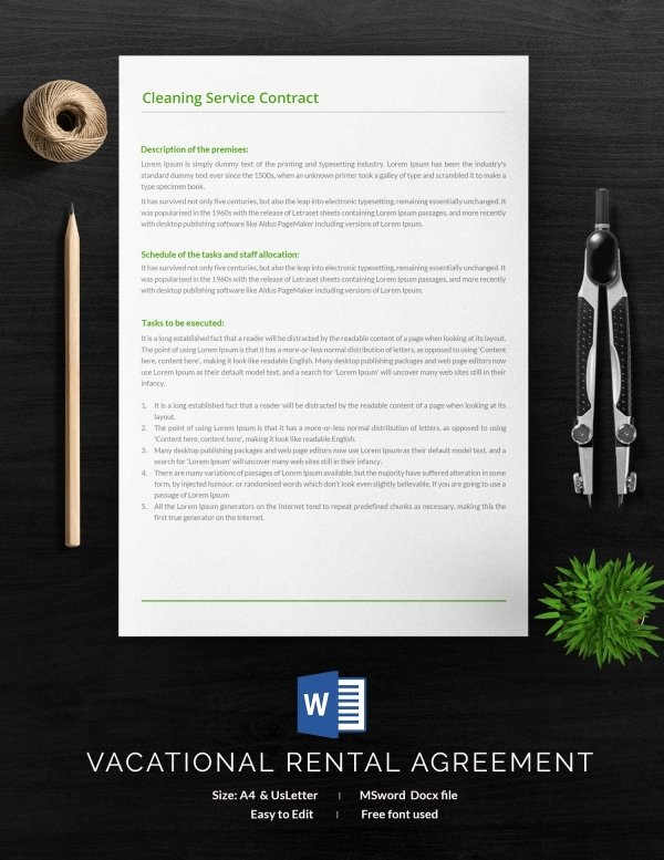 Cleaning Service Contract Template Luxury Cleaning Contract Template 27 Word Pdf Documents
