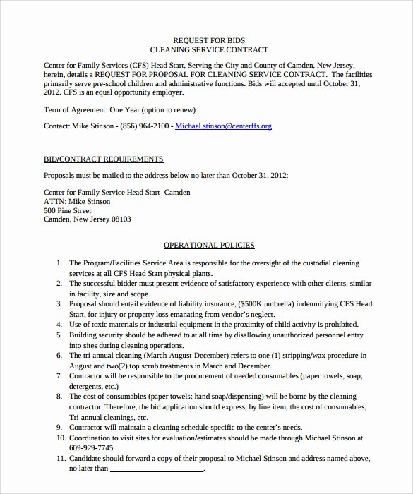 Cleaning Service Contract Template Unique 16 Cleaning Contract Templates Docs Word Pdf