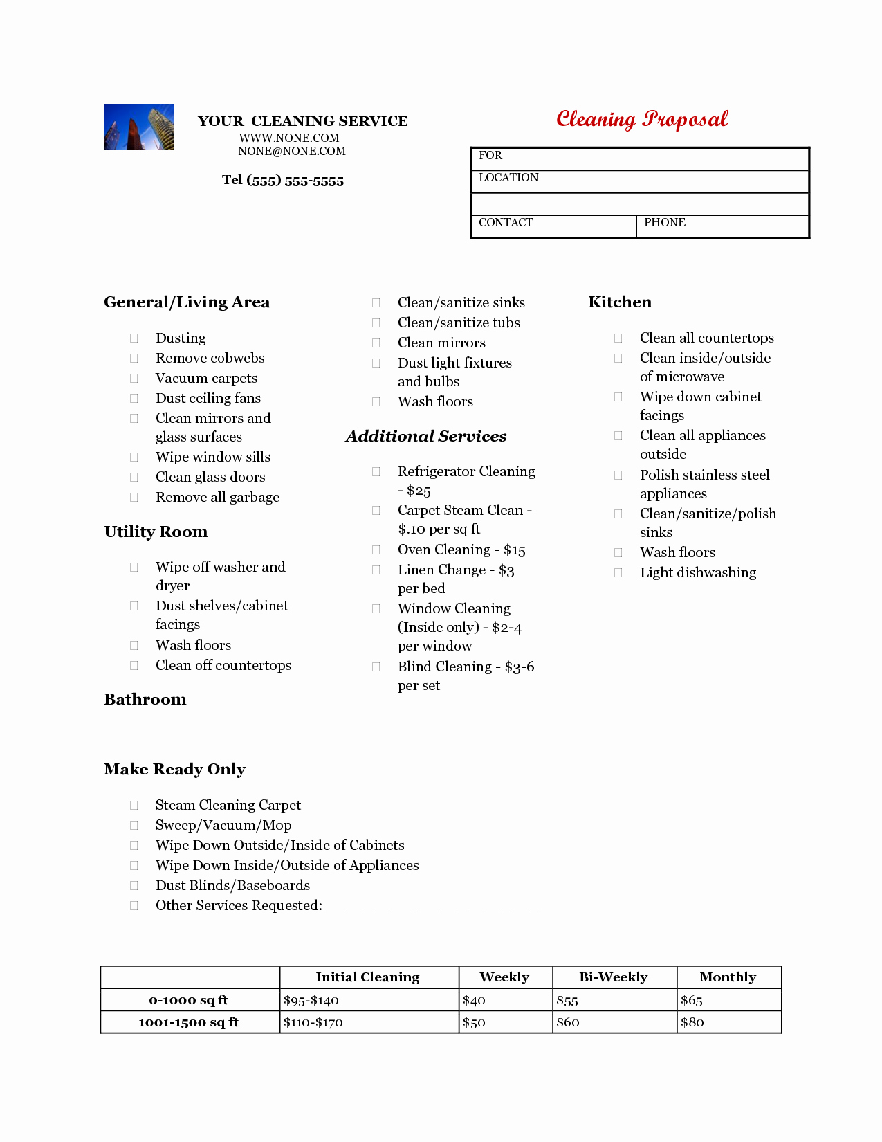 Cleaning Service Proposal Template Awesome Cleaning Business Proposal Template Free