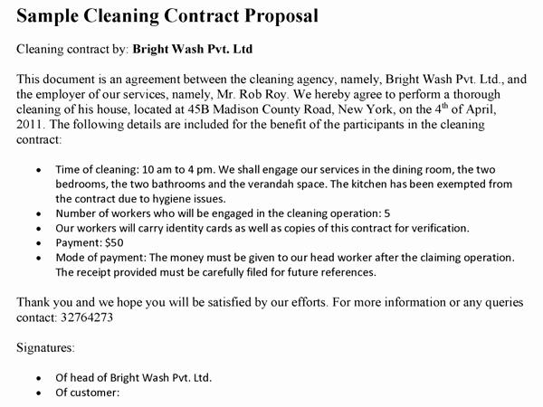 Cleaning Service Proposal Template Beautiful Post Construction Cleaning Proposal Template