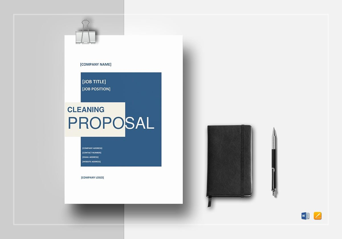 Cleaning Service Proposal Template Elegant Cleaning Proposal Template In Word Google Docs Apple Pages