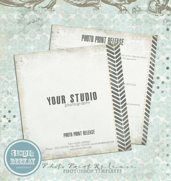 Client Print Release form Template Fresh Release form Template Deals for Your Studio
