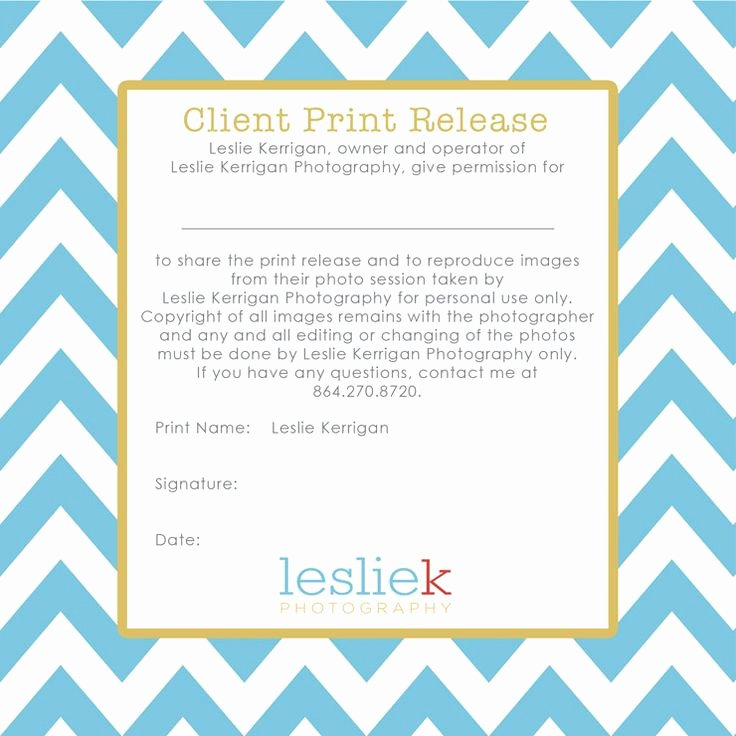 Client Print Release form Template Lovely Great Sample Of Graphy Print Release Wording