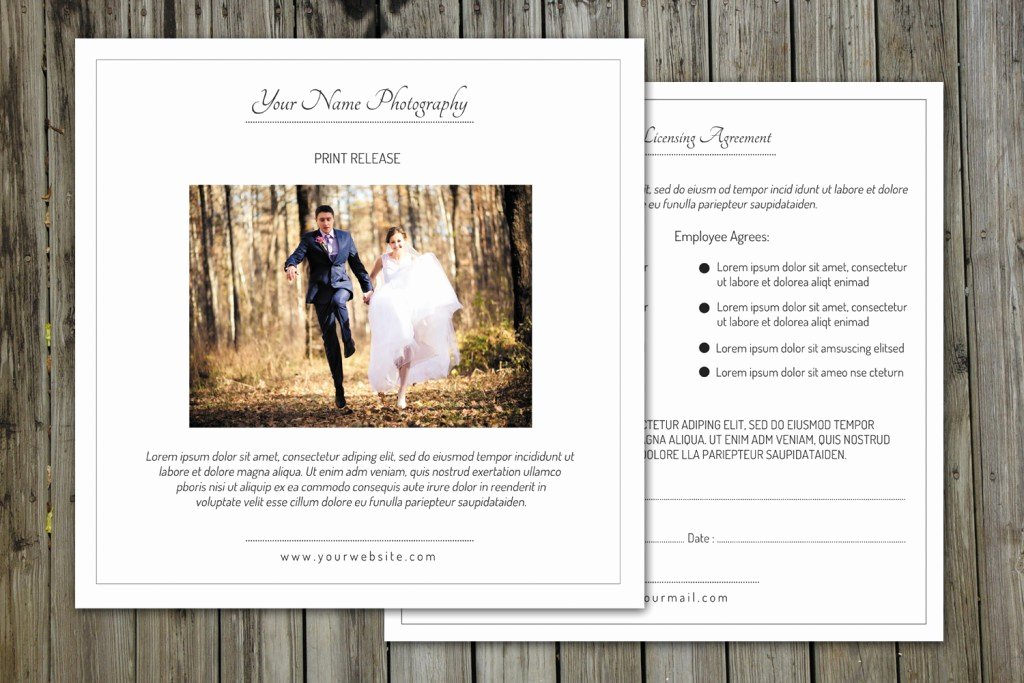 Client Print Release form Template Lovely Release form Template Deals for Your Studio
