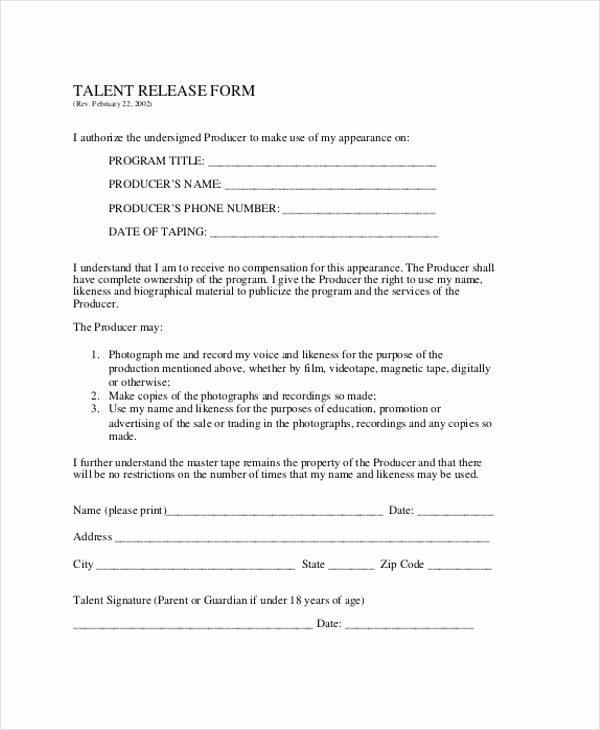 Client Print Release form Template Unique Free 21 Print Release form Templates