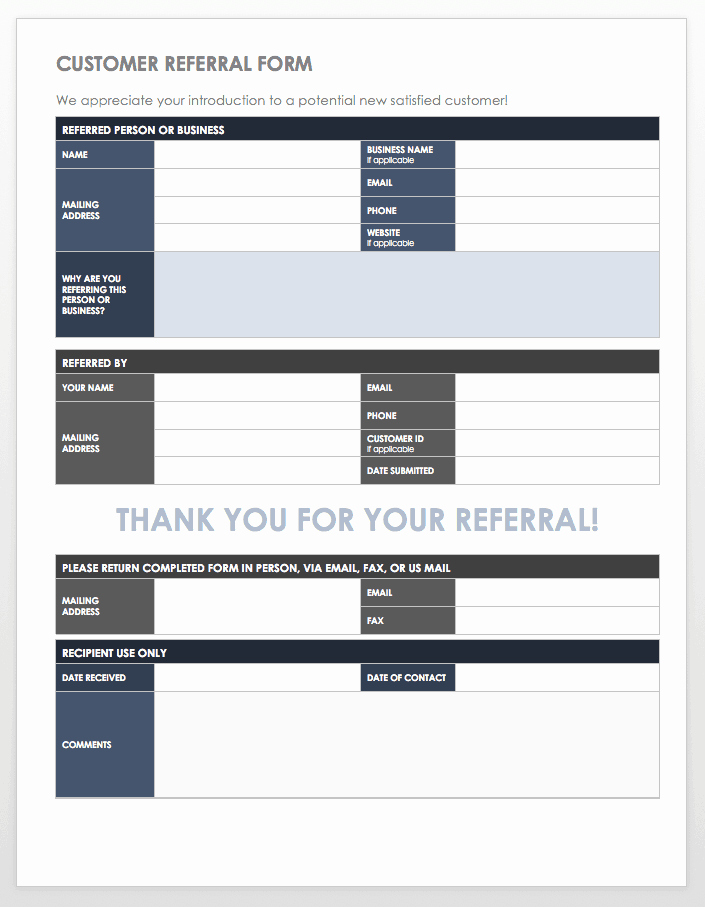 Client Referral form Template Fresh 10 Free Referral Templates