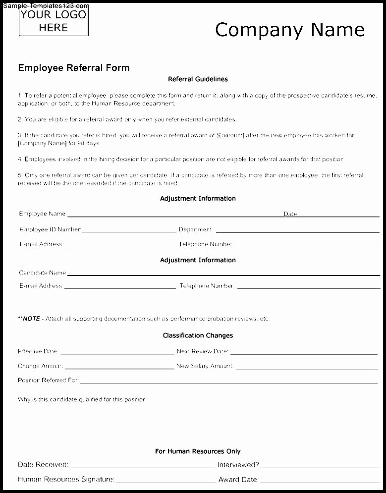 Client Referral form Template Fresh Elegant Customer Referral form Template