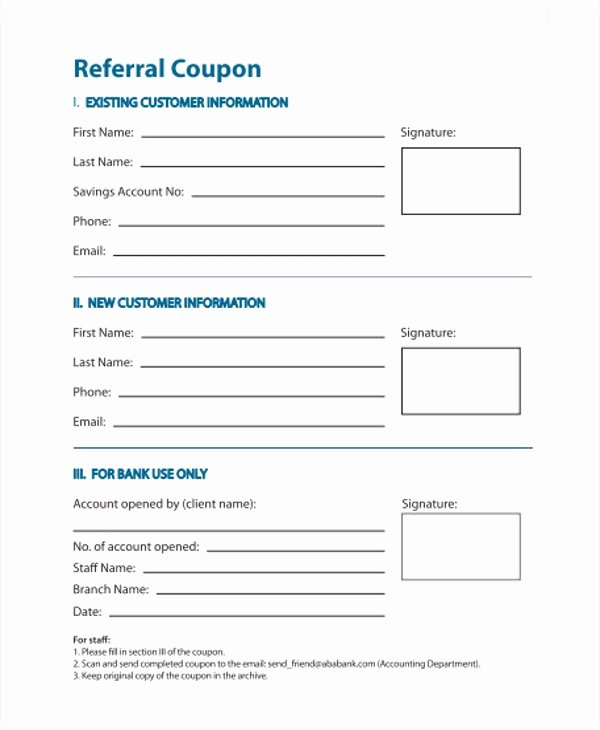 Client Referral form Template Lovely 12 Referral Coupon Templates Word Psd Ai