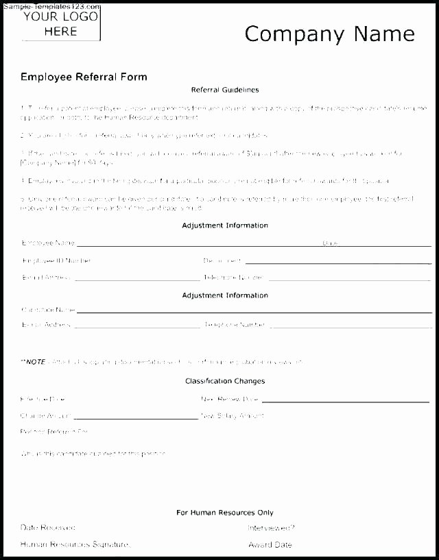 Client Referral form Template Unique Referral Template Sample