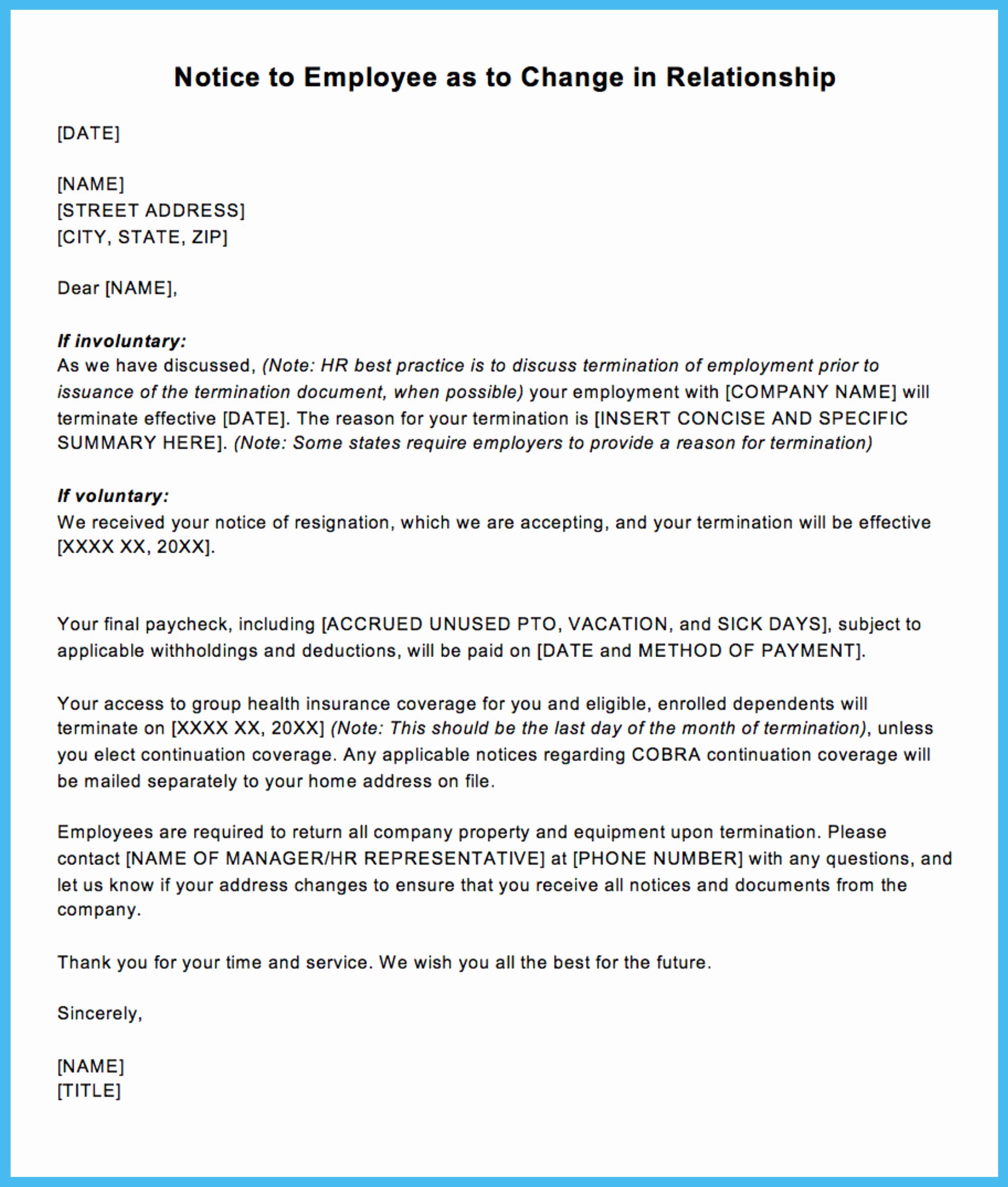 Client Termination Letter Template Beautiful Sample Termination Letter for Letting An Employee Go