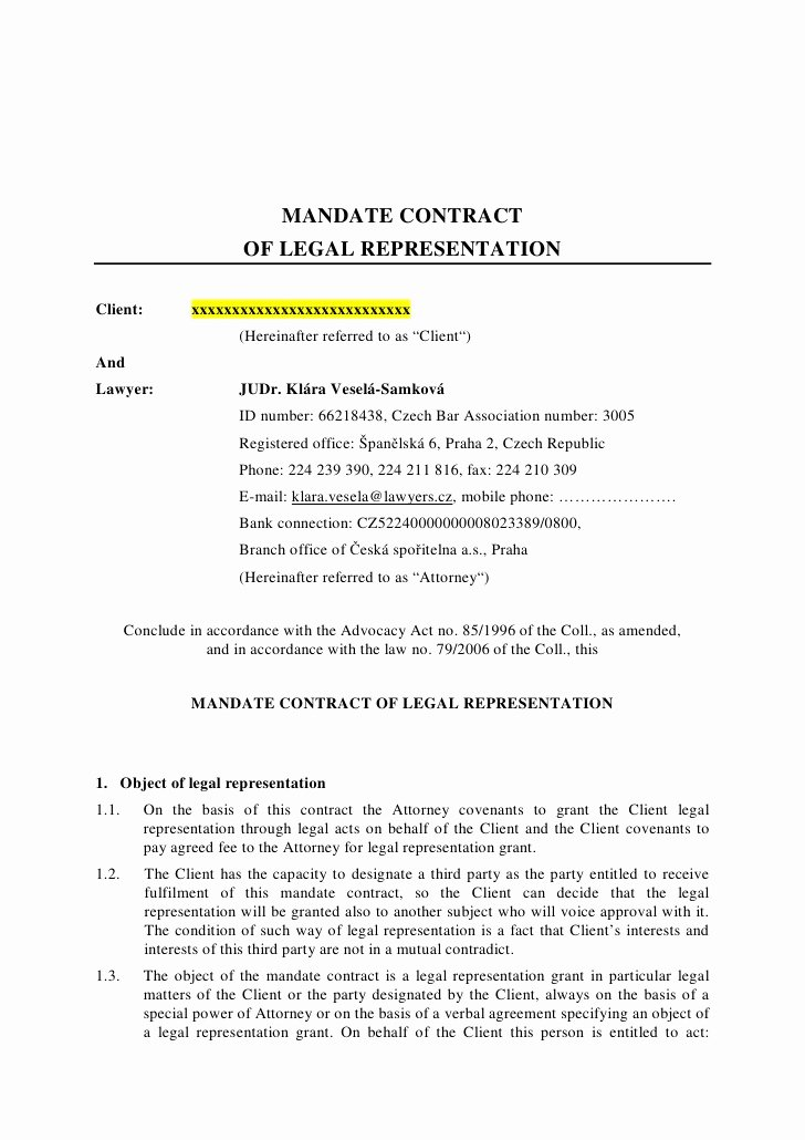 Client Termination Letter Template Best Of Letter to Terminate attorney Representation