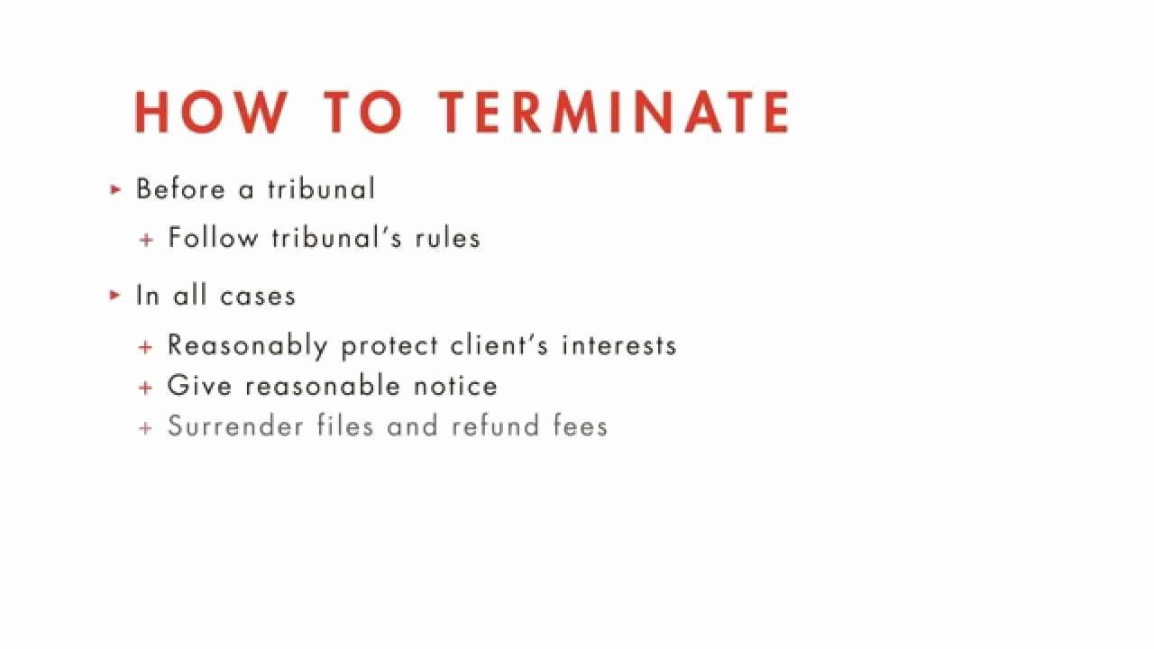Client Termination Letter Template Elegant Legal Ethics Tutorial Terminating the attorney Client