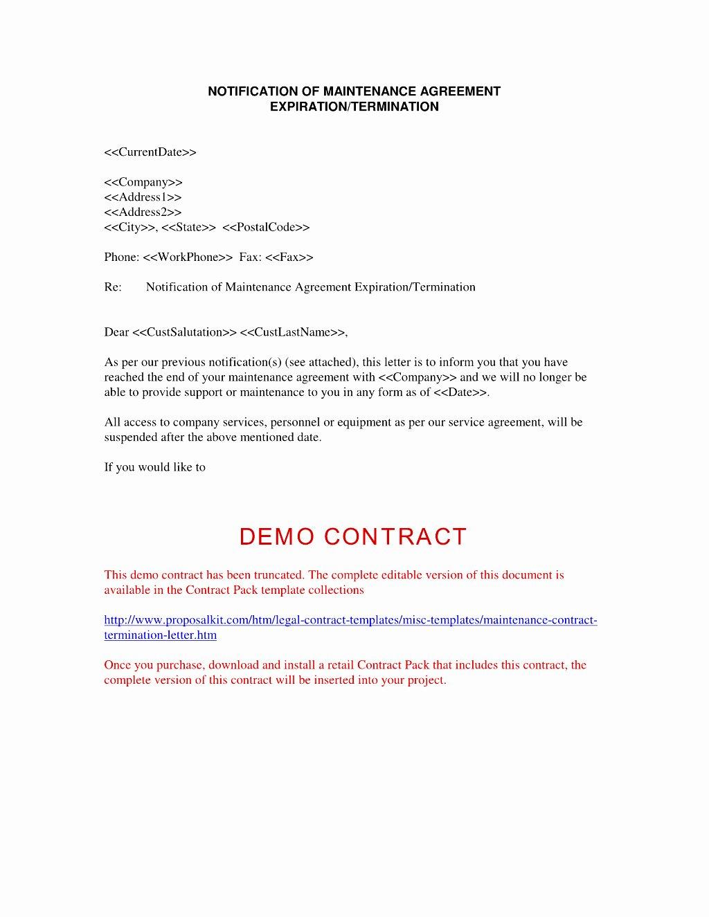 Client Termination Letter Template Fresh Business Contract Termination Letter Template Samples