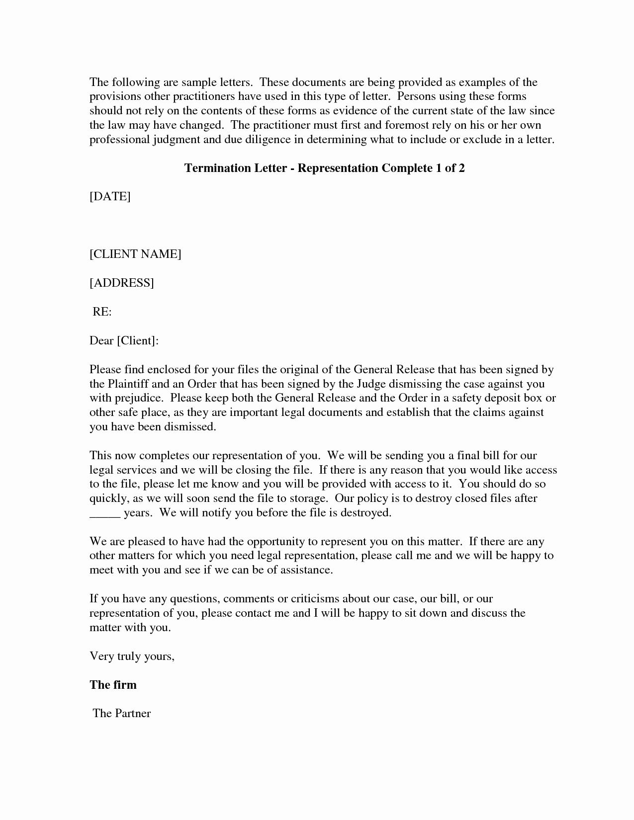 Client Termination Letter Template Inspirational Best S Of Firing A Client Letter Template Sample