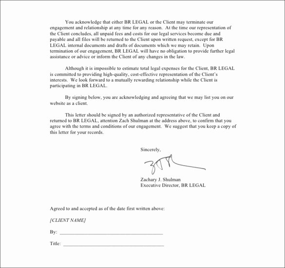 Client Termination Letter Template New Sample Termination Letters 8 Client Termination Letters