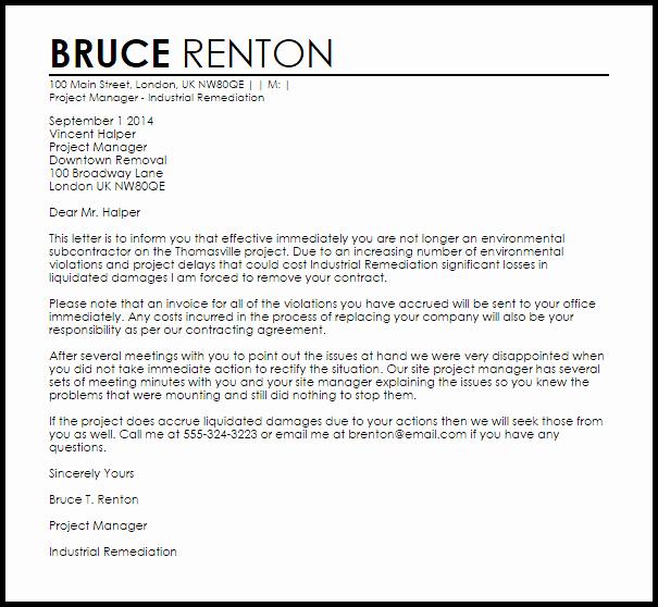 Client Termination Letter Template Unique Sample Termination Letter without Cause
