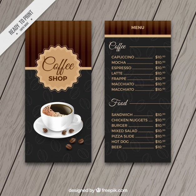 Coffee Shop Menu Template Awesome Retro Cafe Menu Template Vector