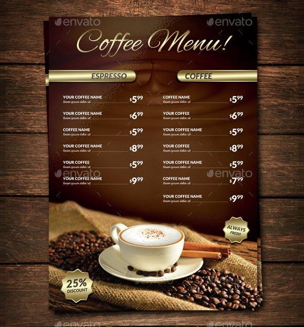 Coffee Shop Menu Template Beautiful 22 Coffee Menu Templates Free Psd Eps Illustrator Png