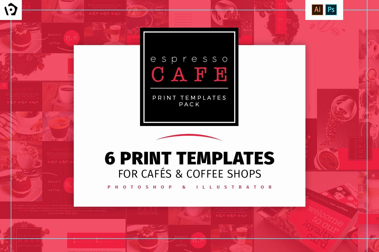 Coffee Shop Menu Template Best Of Café Menu Template Pack Brochure Templates Creative Market