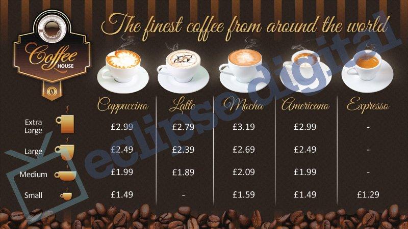 Coffee Shop Menu Template Inspirational Coffee Shop Version 2 Menu Board Psd Template