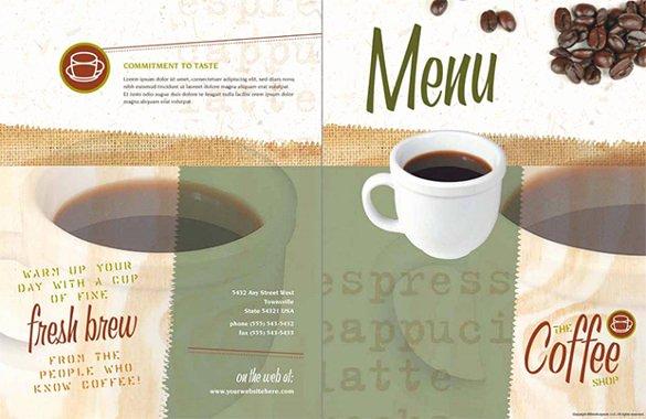 Coffee Shop Menu Template Lovely 51 Restaurant Menu Templates Design Psd Docs Pages