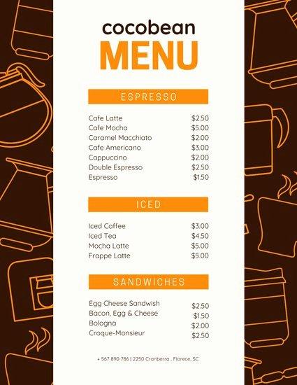 Coffee Shop Menu Template Luxury Customize 69 Coffee Shop Menu Templates Online Canva
