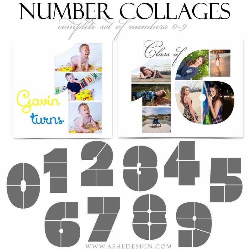 Collage Templates for Word Luxury Shop Collage Layouts 12x12 Simply Stated Numbers