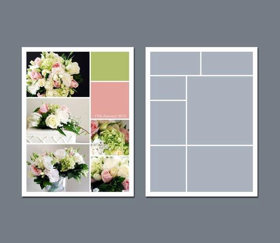 Collage Templates for Word Unique Instant Download Collage Template by Lucyrosedesigns
