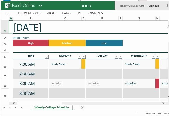 College Class Schedule Template Fresh How to Easily Create Class Schedules Using Excel
