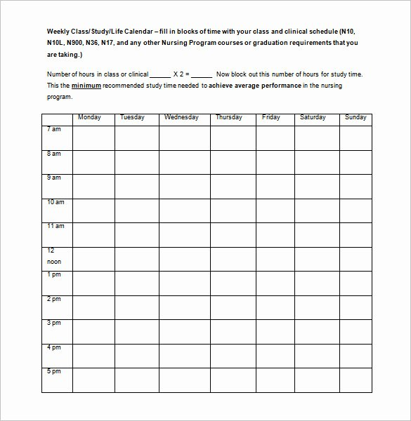 College Class Schedule Template Lovely 3 College Class Schedule Templates Doc Pdf