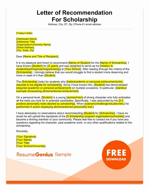 College Letter Of Recommendation Template Elegant Student and Teacher Re Mendation Letter Samples