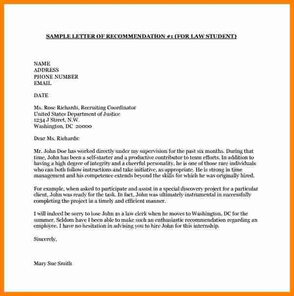 College Letter Of Recommendation Template New 8 College Letter Of Re Mendation Template
