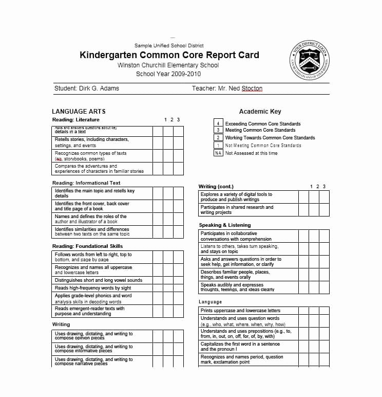 College Report Card Template Awesome 30 Real & Fake Report Card Templates [homeschool High