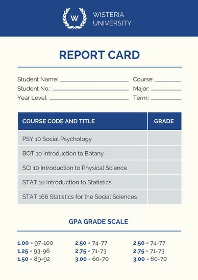College Report Card Template Lovely College Poster Templates Canva
