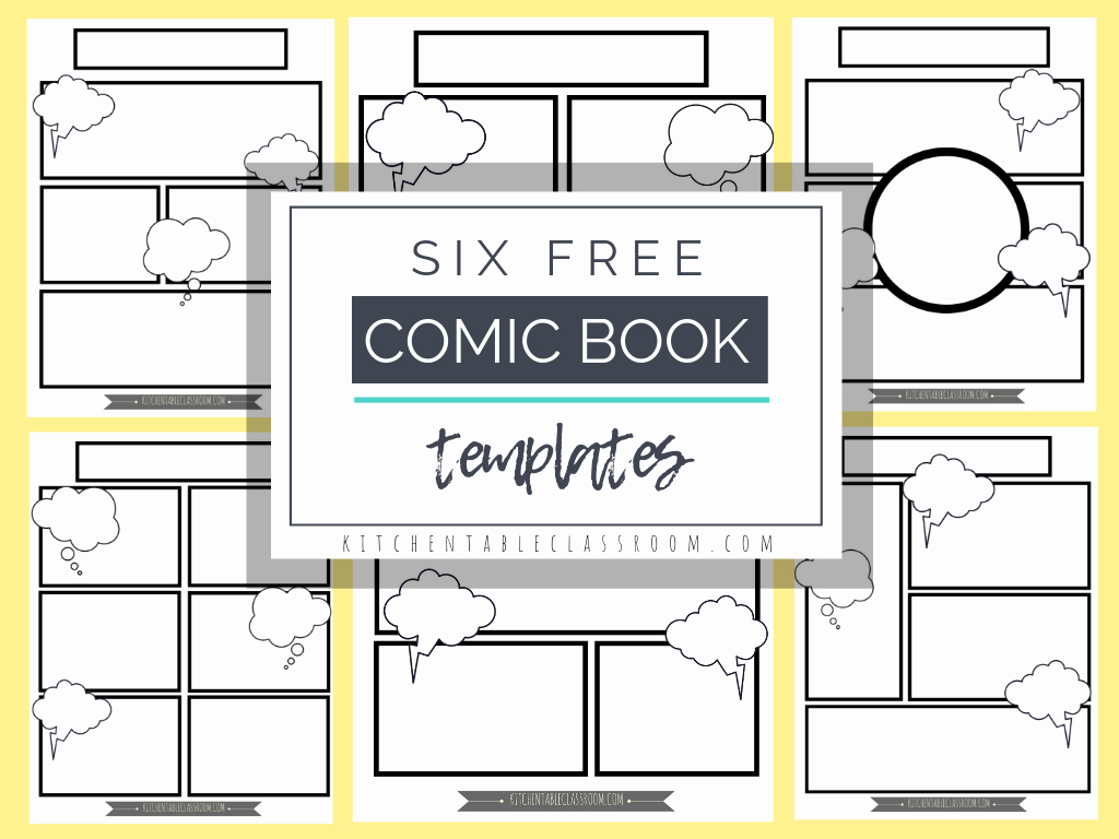 Comic Book Template Pdf Fresh Ic Book Templates Free Printable Pages the Kitchen