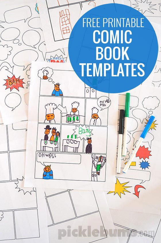 Comic Book Template Pdf New Free Printable Ic Book Templates Homeschool Freebies