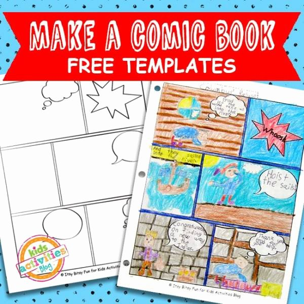 Comic Book Template Pdf Unique Encourage Writing and Storytelling with Printable Ic
