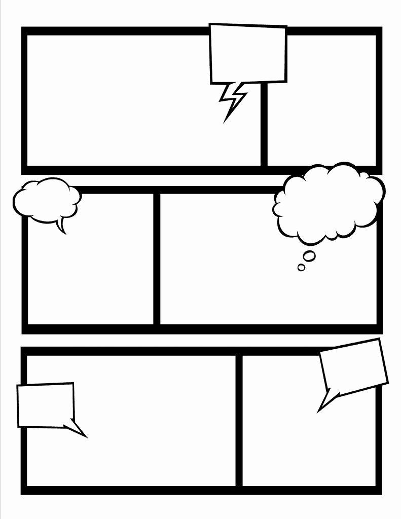 Comic Book Template Pdf Unique Ic Book Template